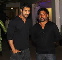 Abhishek, John & Nargis at Madras Cafe special screening