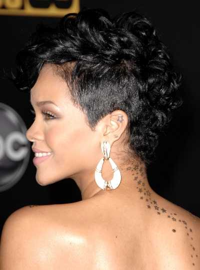 Rihanna short hairstyle black women