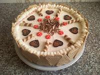 Torta recept - Anyák napi borhabtorta