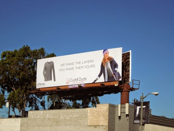 JCPenney Cuddl Duds layers billboard