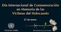 27 de enero. Conmemoración de las víctimas del holocausto
