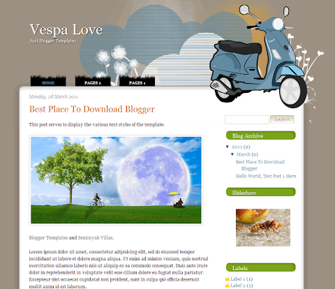 Vespa Love Blogger Theme