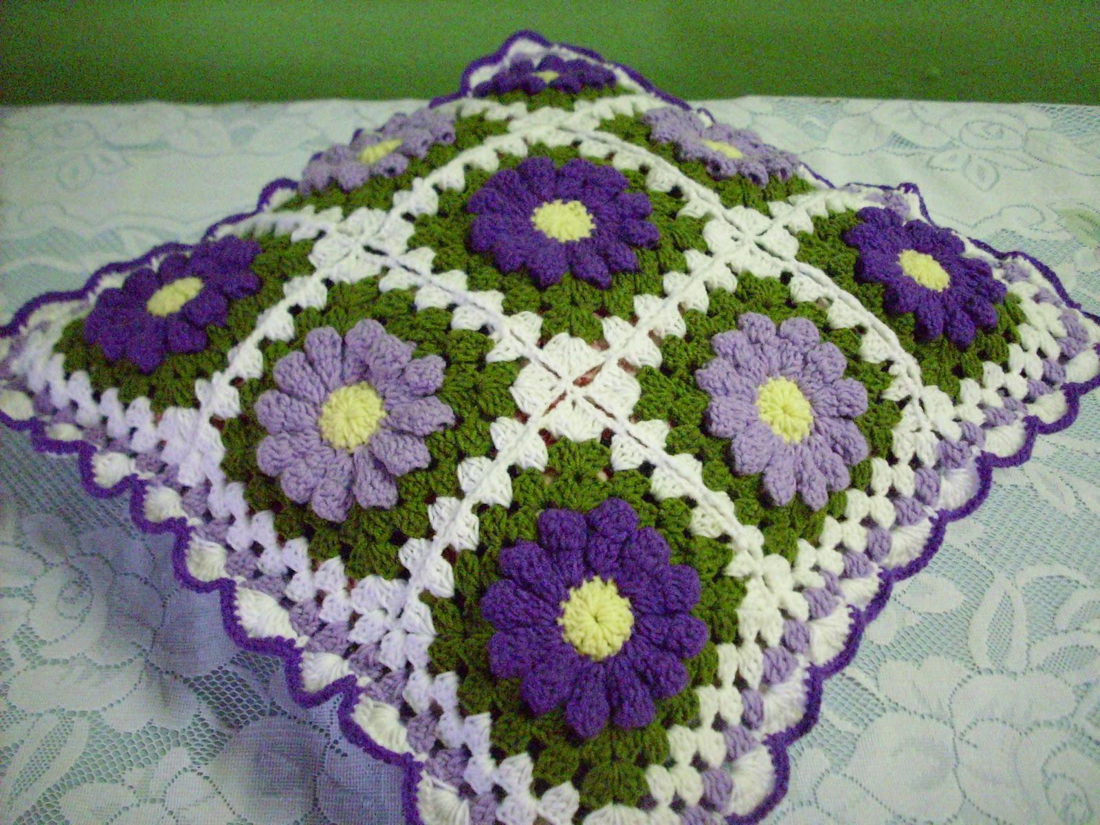 diela 39 s crochet crochet bantal kusyen bunga daisy