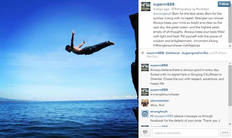 wrangler sun chaser instagram promo