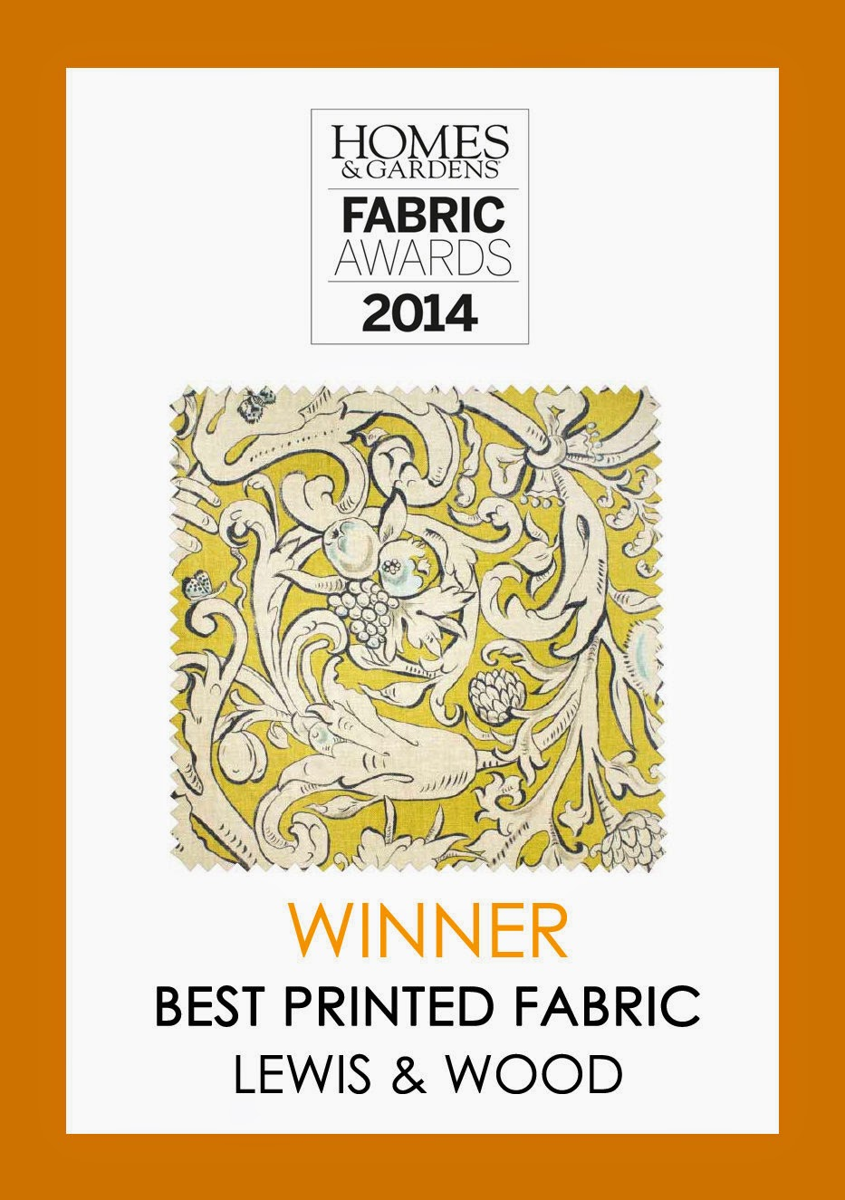 Homes & Gardens Fabric Award for Bacchus