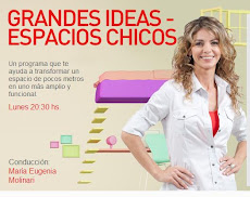 "Particip en ""Grandes ideas, espacios chicos"" el lunes 28/1/13 a las 21:15 PM mostrando mi casa."