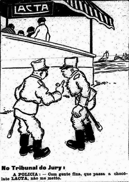 Propaganda dos Chocolates Lacta com Discriminação Social em 1919.