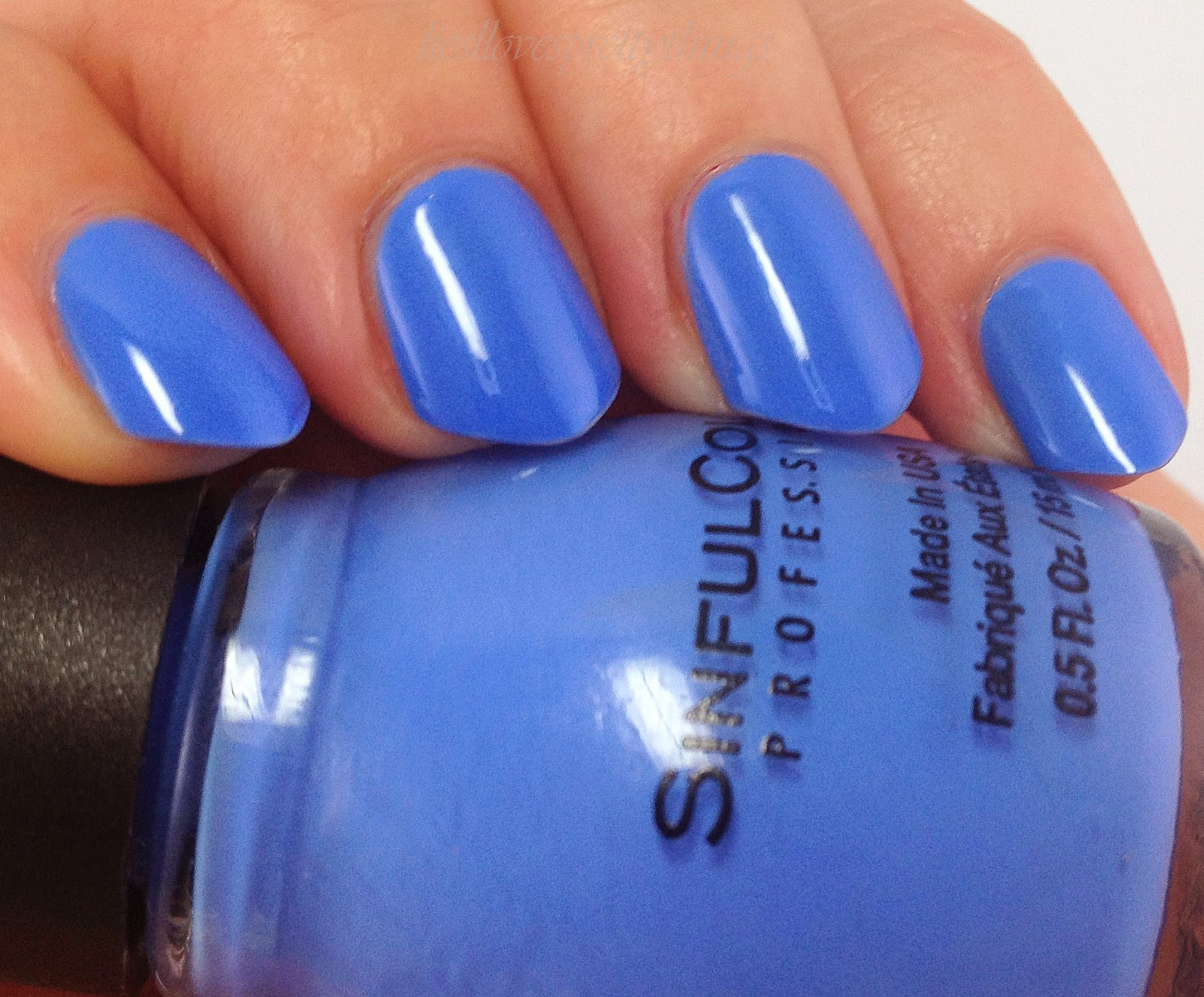 Sinful Colors Blue La La-- Summer 2014 swatch and review