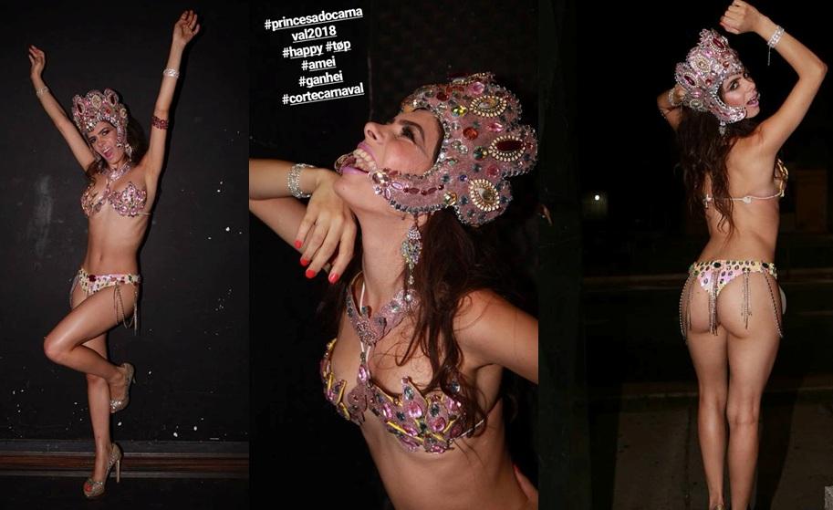 Eleita 2ª Princesa do Carnaval 2018 de São Paulo a modelo Jaqueline Santos mostrará todo seu rebola