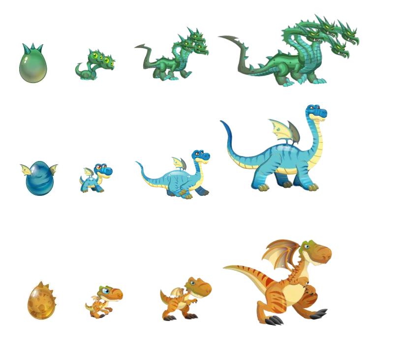Dragon City Dragons