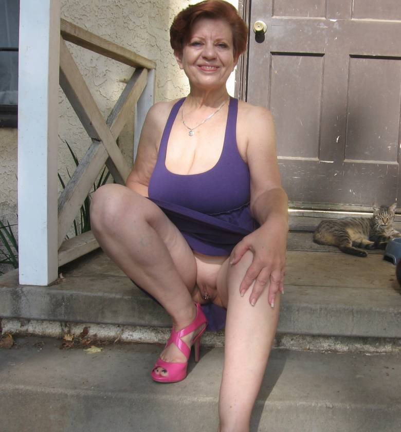 All upskirt granny