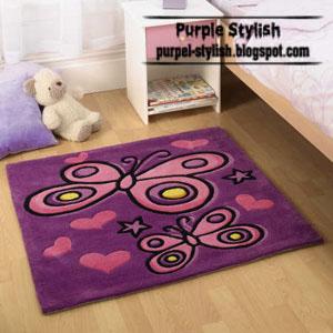 purple butterfly carpet for kids girls room purple stylish. Black Bedroom Furniture Sets. Home Design Ideas