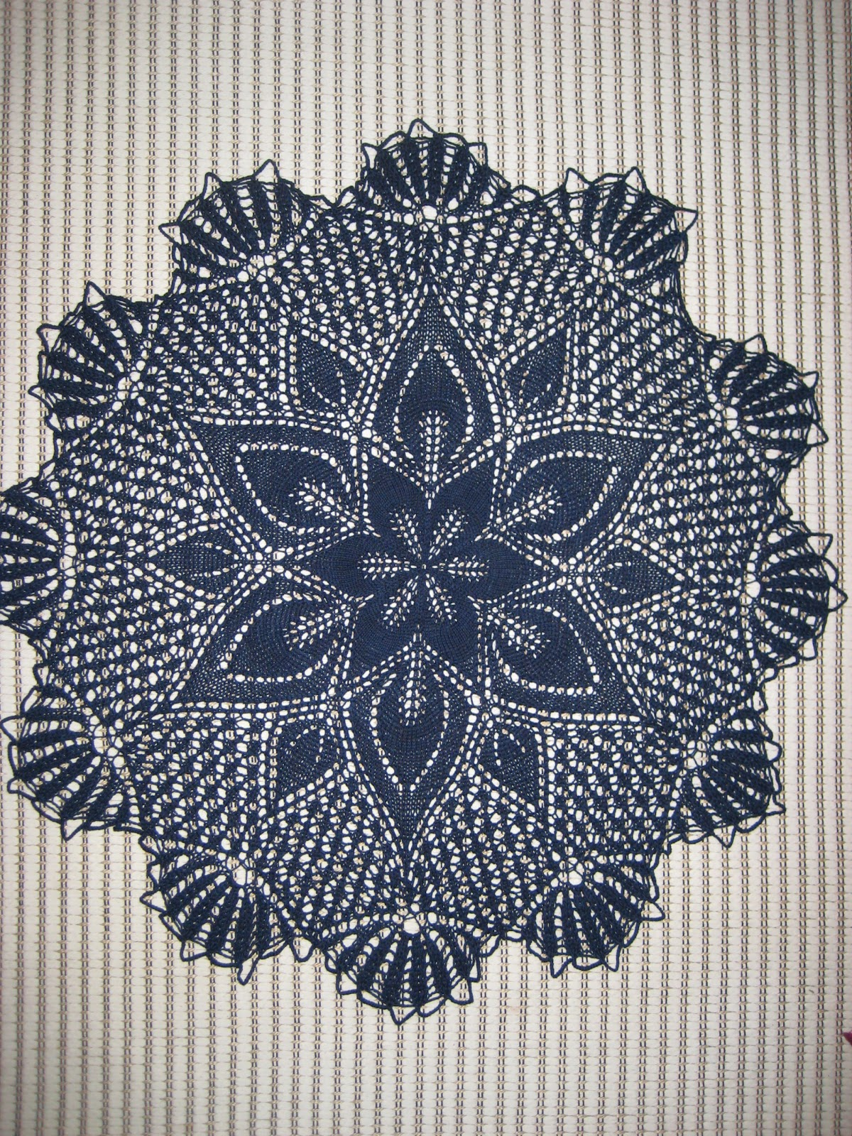 Knitted Tablecloth Patterns : Sweet n Pretty Things: More knitted lace tablecloth goodness