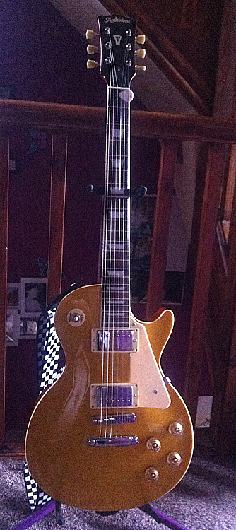 Radiotone Les paul goldtop type guitar