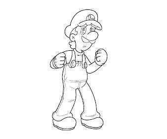 #18 Luigi Coloring Page