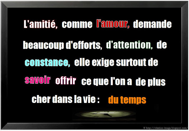 Citation sur le temps en image