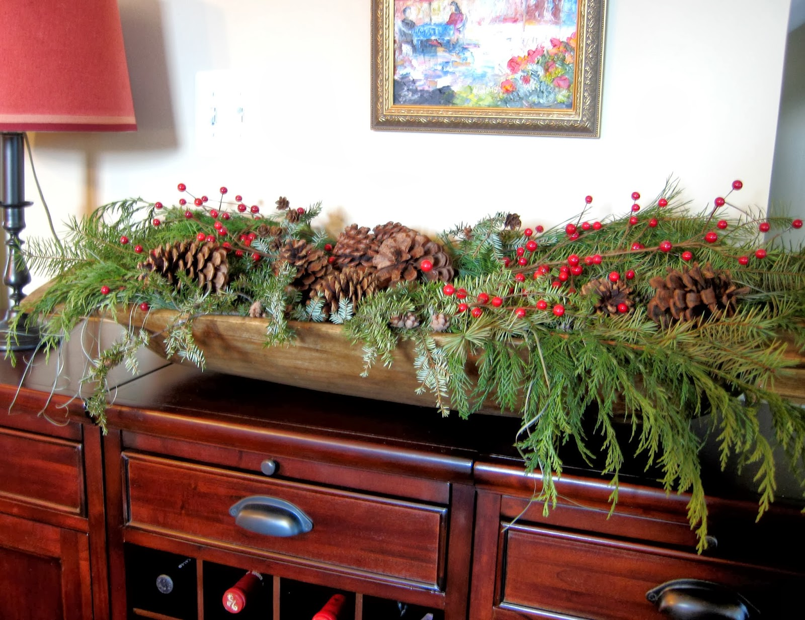 Salt marsh cottage natural christmas centerpieces tutorial