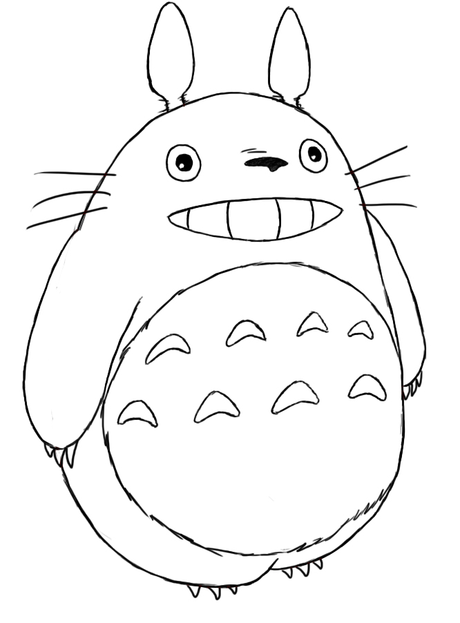 White Totoro Drawing You Can Make This by Drawing a