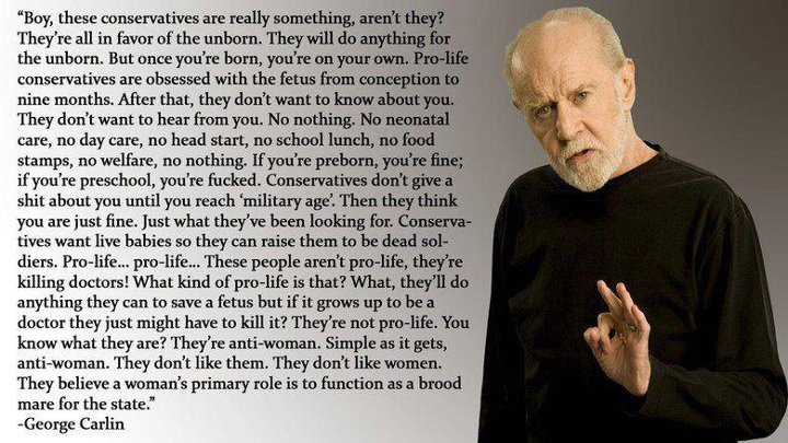 George Carlin Clips: George Carlin - Conservatives / Republicans
