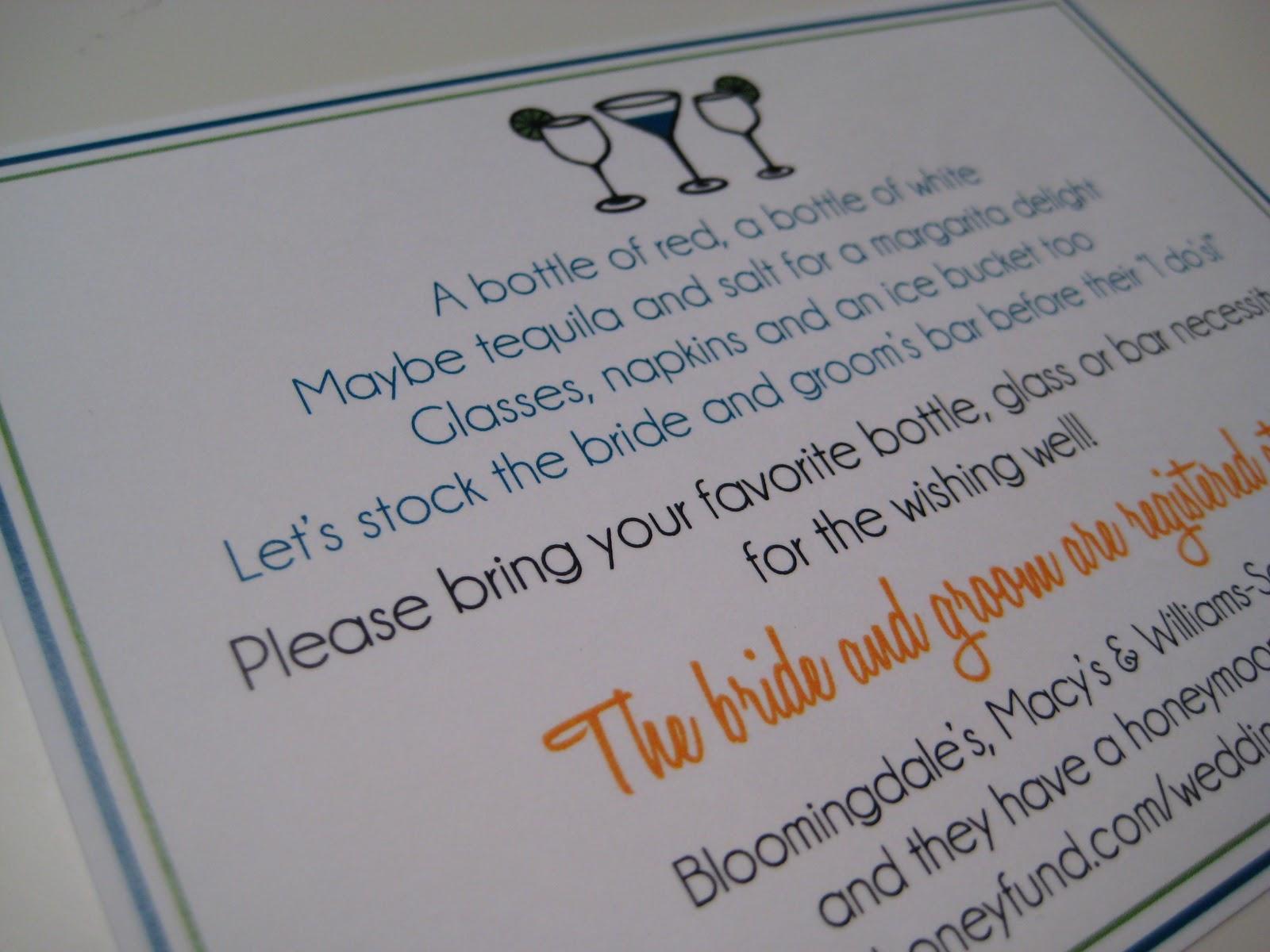 le petit papier | designs by monica: Annette\'s STOCK THE BAR Bridal ...