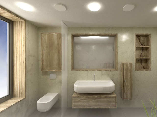 modern natural bathroom