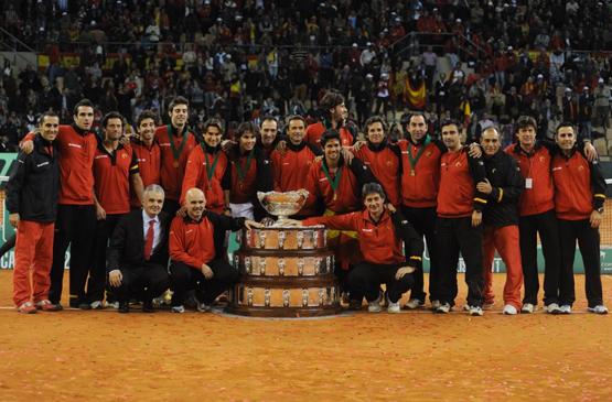 equipo español campeón de la Copa Davis