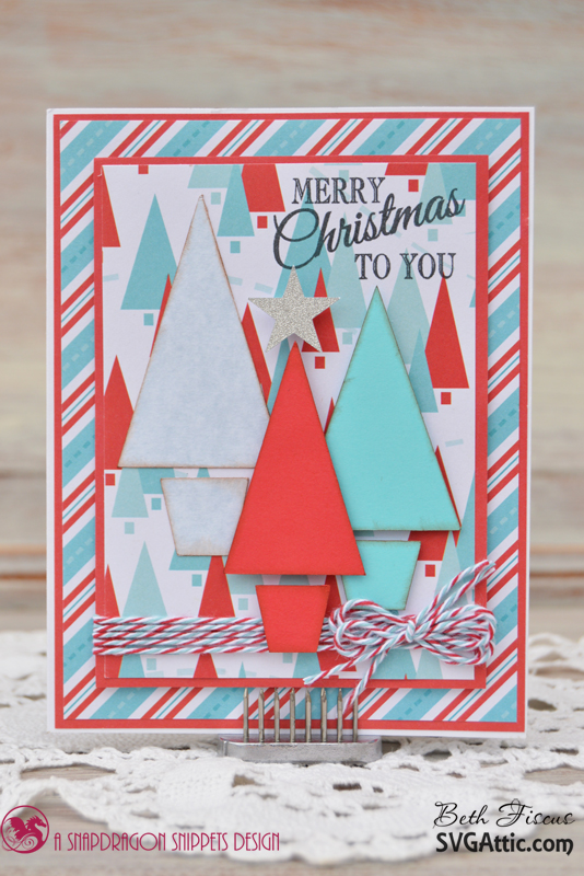 SVG Attic Blog Turquoise And Red Christmas Cards With Beth