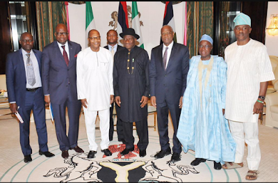 See What Senator Musiliu Obanikoro Wore To An Official Meeting With President Jonathan And UN Delegates