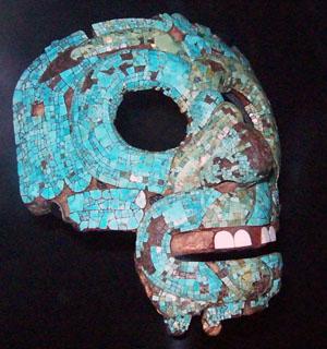 Máscara de Tlaloc o Quetzalcoatl. British Museum. Foto: Emma Ros