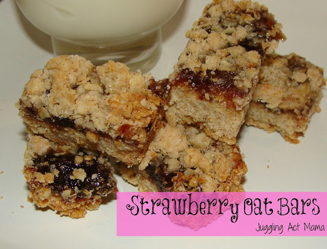 Strawberry Oat Bars are the perfect bake sale or potluck dessert treat! They're quick and easy and a huge crowd pleaser for kids and adults!