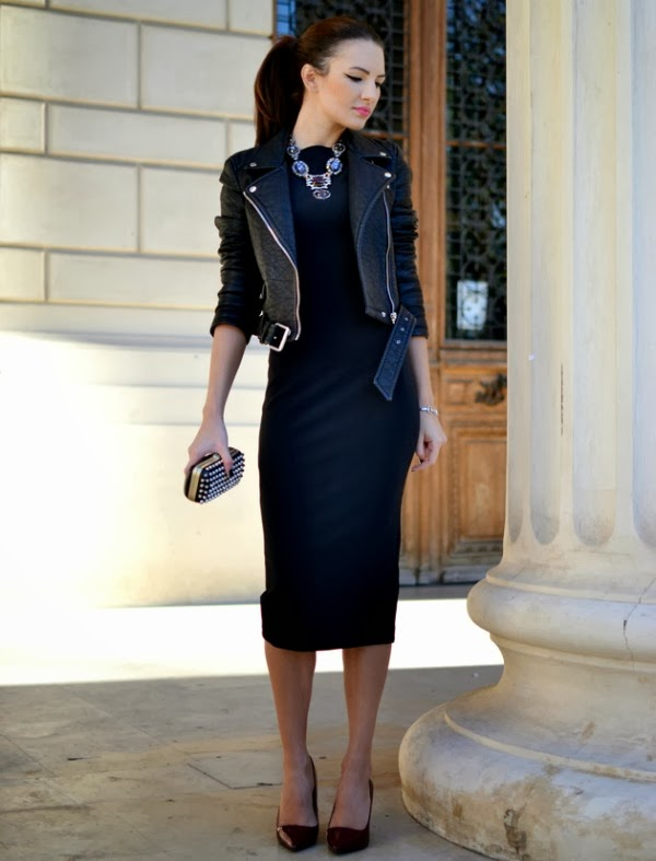 Dress and moto jacket