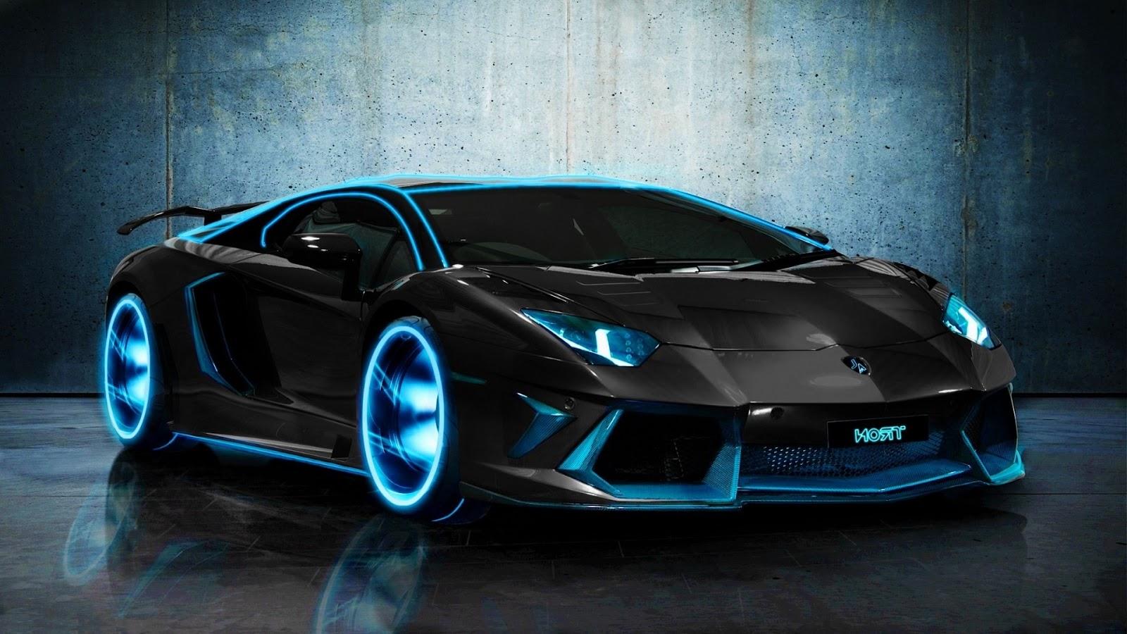 Blue Lamborghini Car Pictures HD