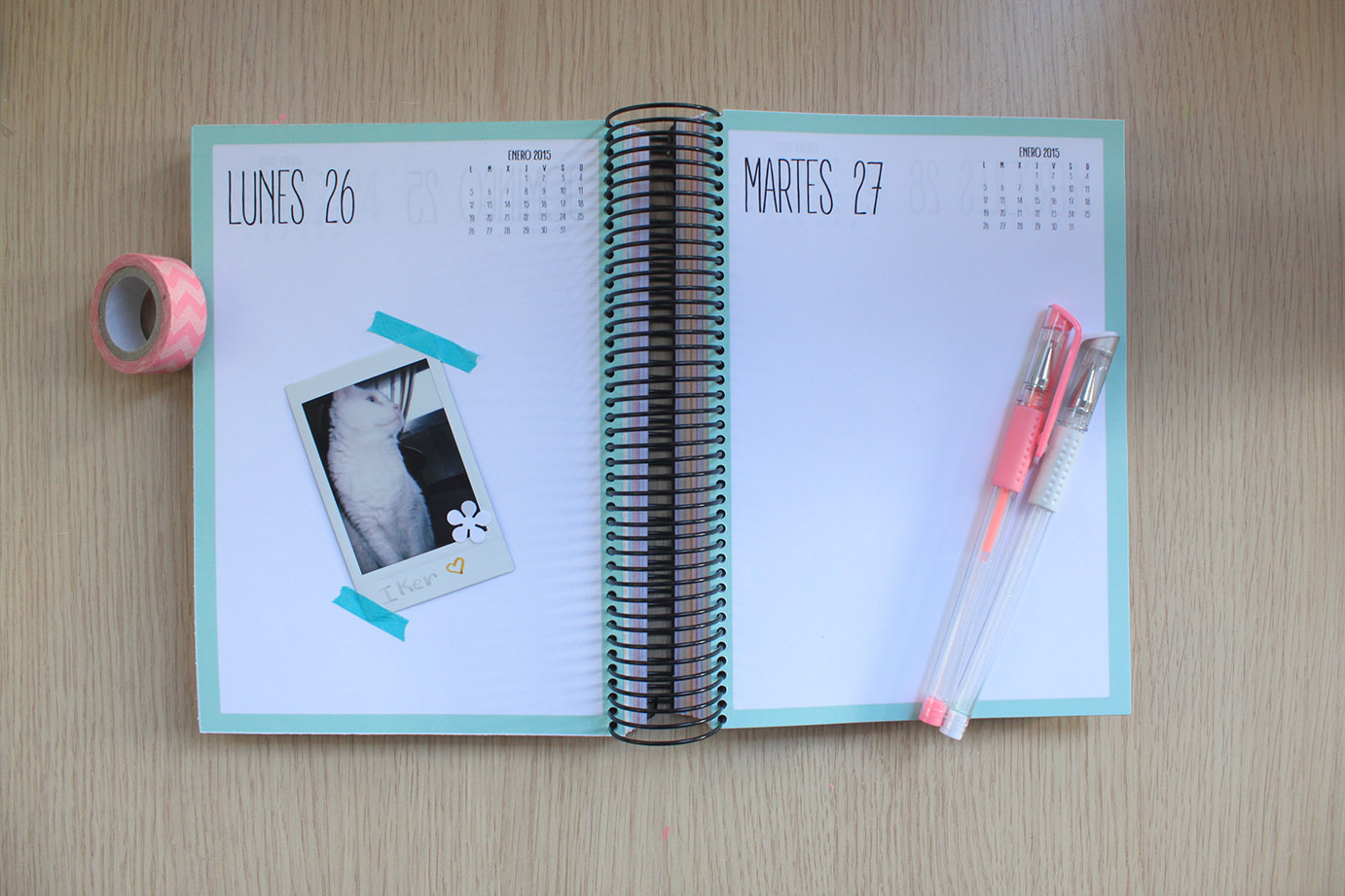 clear colours: Agenda 2014-15. Gratis y personalizable