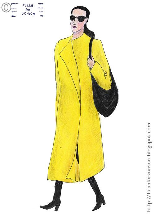 Street Style Helsinki, Yellow Sunshine Coat.