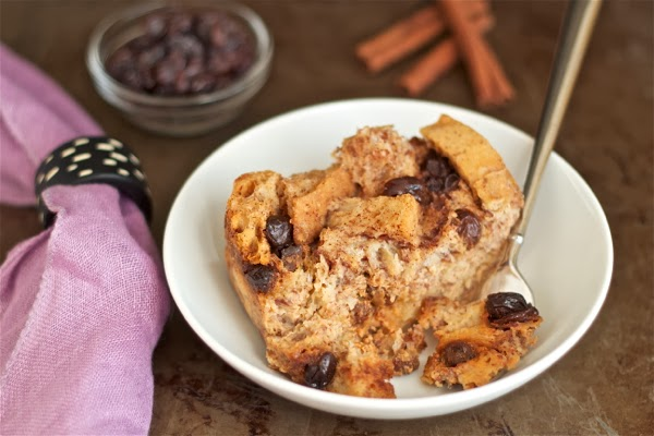 crockpot (slow cooker) bread pudding