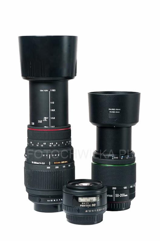 Sigma 70-300 mm f/4-5,6 APO DG MACRO, Pentax 50-200 mm WR, Pentax FA 50 mm f/1.4