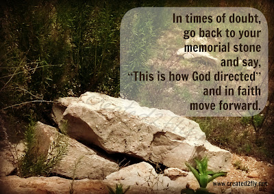 "www.created2fly.net: Memorial Stones - Taking care to mark those ""God moments"""