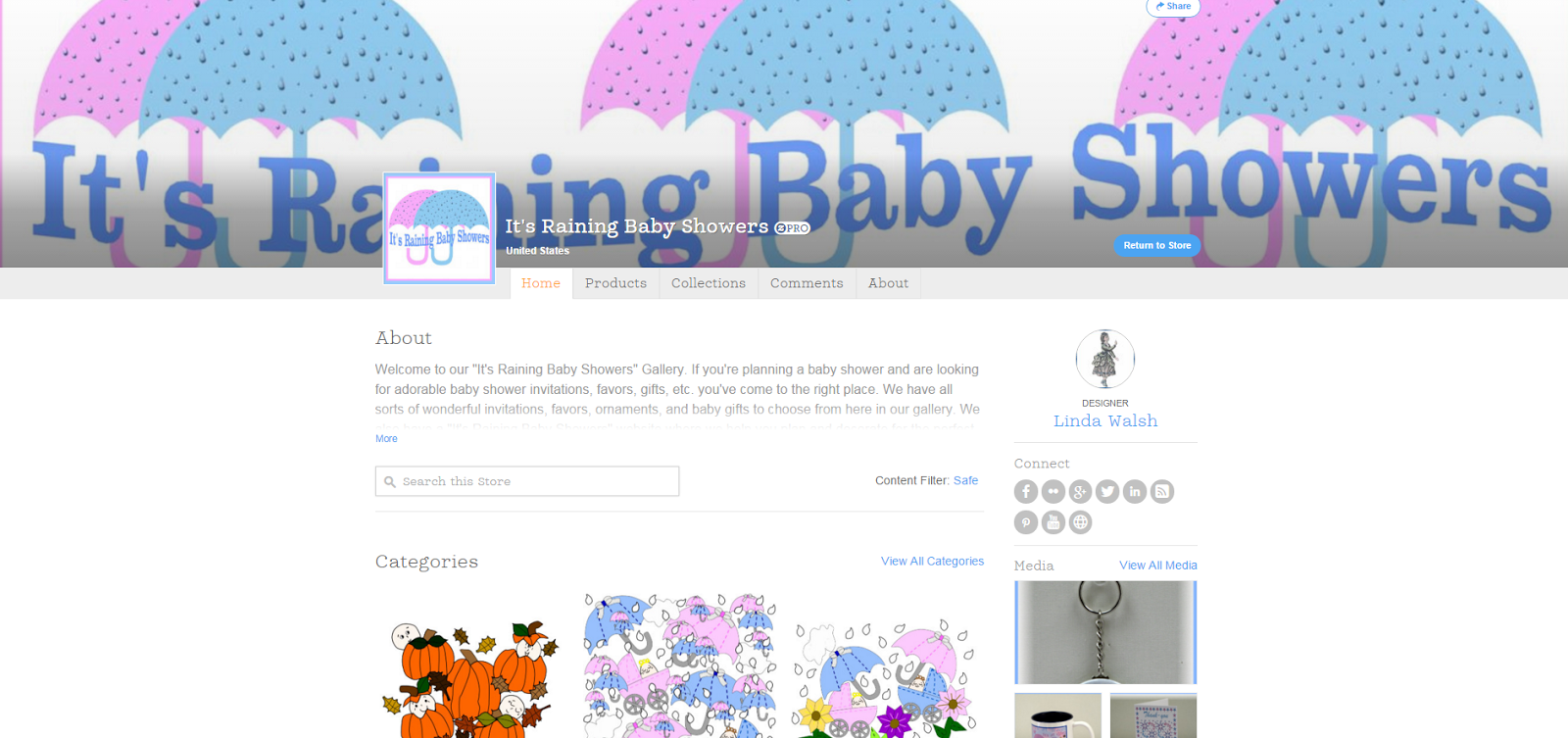 """It's Raining Baby Showers"" Products Gallery"