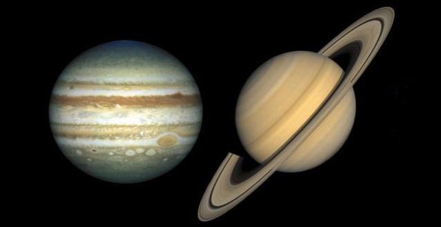 Jupiter and Saturn. Credit: NASA