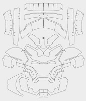 dali lomo iron man mark 42 costume helmet diy cardboard build