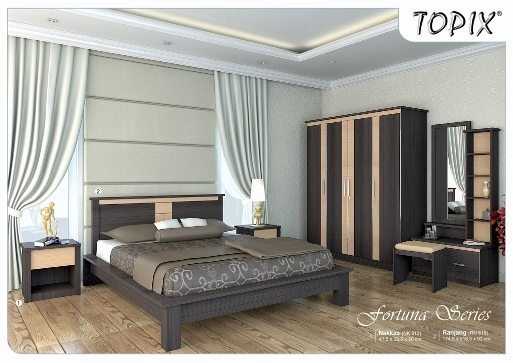 Bedroom Set Fortuna Series Topix Furniture