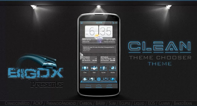 BigDX Clean Theme CM10 AOKP v1.8 APK full data