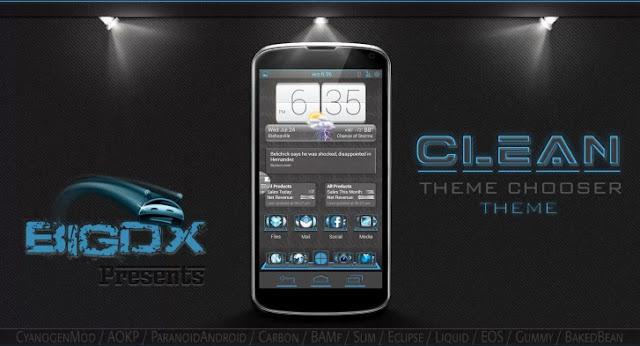 BigDX Clean Theme CM10 AOKP v1.8 APK full data