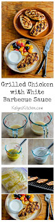 Grilled Chicken Recipe with White Barbecue Sauce (and Ten More Tasty Ideas for Grilled Chicken) [from KalynsKitchen.com}