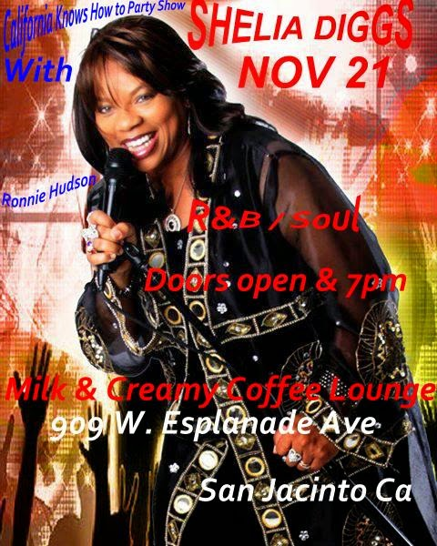 Shelia Diggs Will be Live at the Ronnie Hudson Show