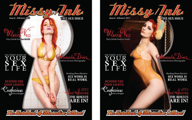 malinda prudhomme, curvy beauties, sex issue, missy ink magazine, dana brushette
