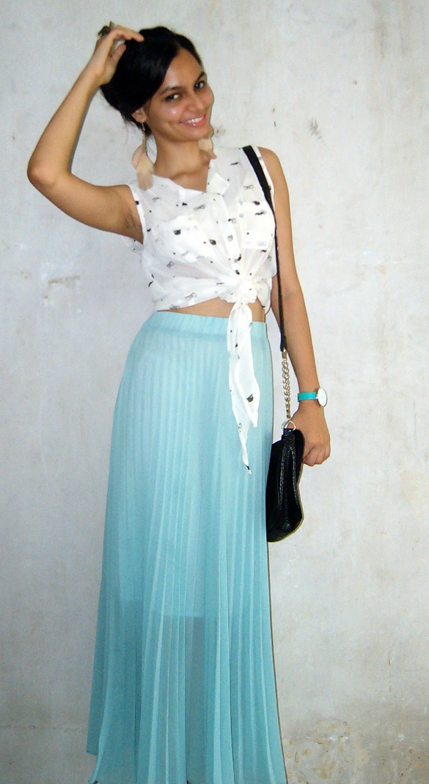 pleated skirt, maxi skirt, sea grean skirt, mumbai streetstyle, online shopping, indian fashion blogger, mumbai fashion blog, bohemian style
