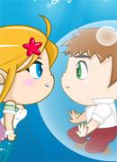 Поцелуи под водой - Онлайн игра для девочек