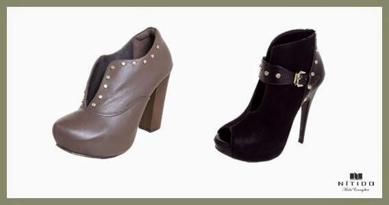 Ankle Boots com fendas frontais