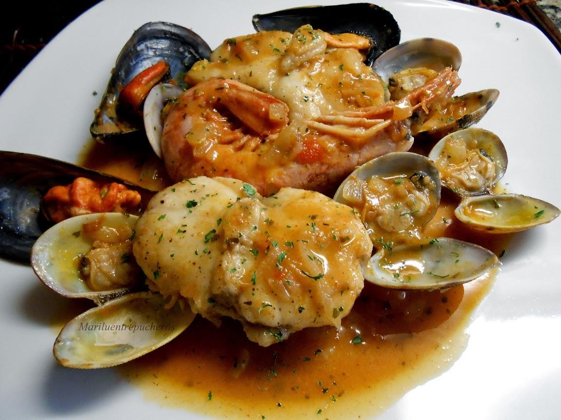 Maril entre pucheros zarzuela de pescado y marisco for Cocinar zarzuela
